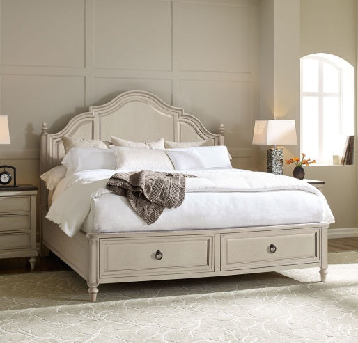 Brookhaven Bedroom Queen Panel Bed With Storage Footboard 5/0