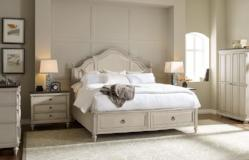 Brookhaven Bedroom King Panel Bed With Storage Footboard 3 Piece Bedroom Set in Pennsylvania 3011