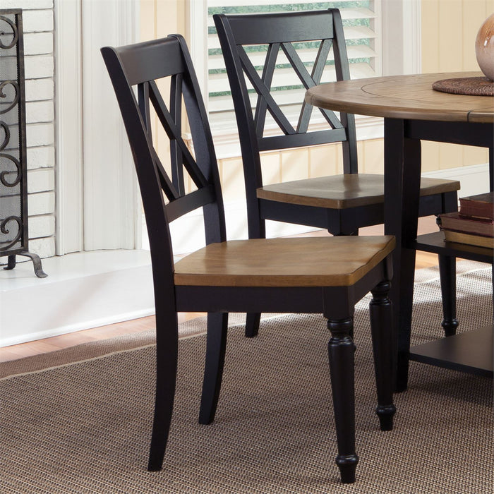 Liberty Furniture | Casual Dining Double X Back Side Chair in Richmond,VA 8014