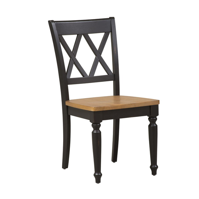 Liberty Furniture | Casual Dining Double X Back Side Chair in Richmond,VA 8013