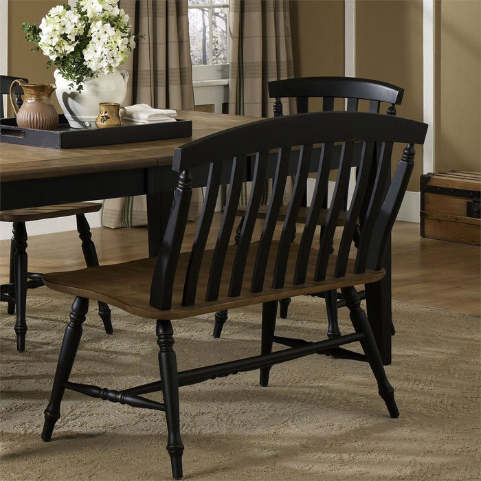 Liberty Furniture | Casual Dining Slat Back Bench in  Richmond Virginia 8021