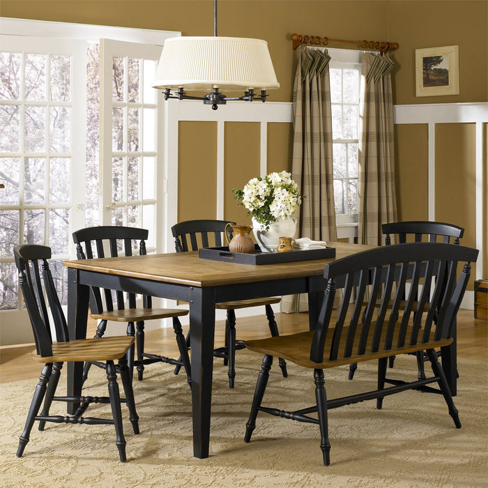 Liberty Furniture | Casual Dining 6 Piece Rectangular Table Set in Charlottesville, VA 8056