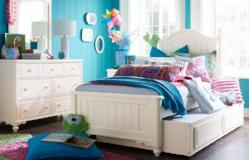 Summerset - Ivory Youth Bedroom Low Poster Bed, Full 3 Piece Bedroom Set