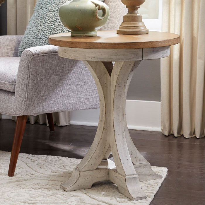 Liberty Furniture | Occasional Round Chair Side Table in Richmond Virginia 8237