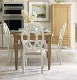 Legacy Classic Furniture | Dining Surfboard Leg Table With X Back Side Chairs in Baltimore, Maryland 4409