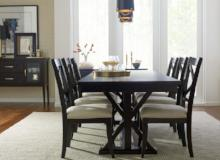 Legacy Classic Furniture | Dining Trestle Table With Uph Back Side Chairs in Charlottesville, VA 4431