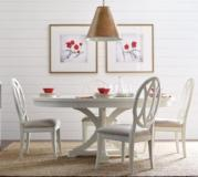 Legacy Classic Furniture |  Dining Round to Oval Pedestal Table With Slat Back Side Chairs in Winchester, Virginia 4233