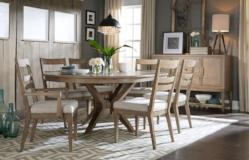 Legacy Classic Furniture |  Dining Round Table 7 Piece Set in Pennsylvania 2351