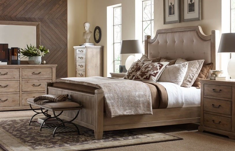 Legacy Classic Furniture | Bedroom Queen Uph Low Post 4 Piece Bedroom Set in Pennsylvania 8158