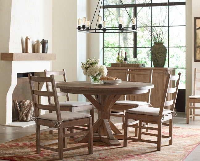 Legacy Classic Furniture | Dining Round Pedestal Table Opt 5 Piece Set in Pennsylvania 5454