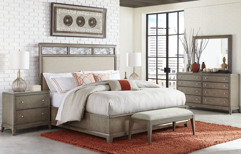 Legacy Classic Furniture | Bedroom Uph Platform CA King 4 Piece Bedroom Set in Pennsylvania 137