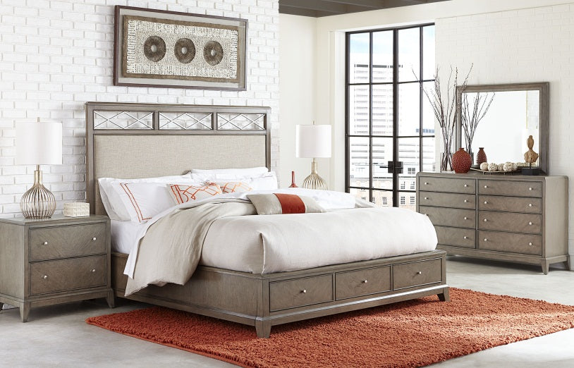 Legacy Classic Furniture | Bedroom Upholstered Platform Bed W/Storage Queen 5/0 in Winchester, VA 61