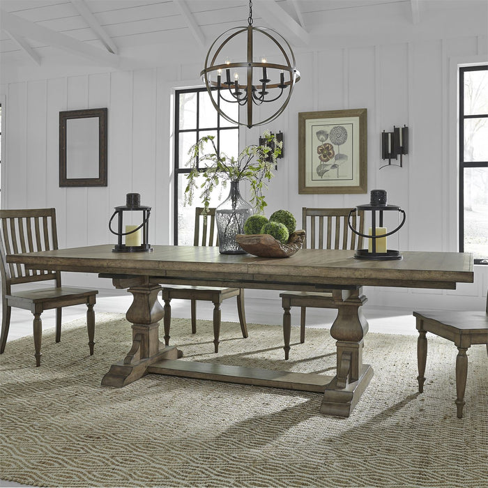 Liberty Furniture | Dining 5 Piece Trestle Table Set in Baltimore, Maryland 7748