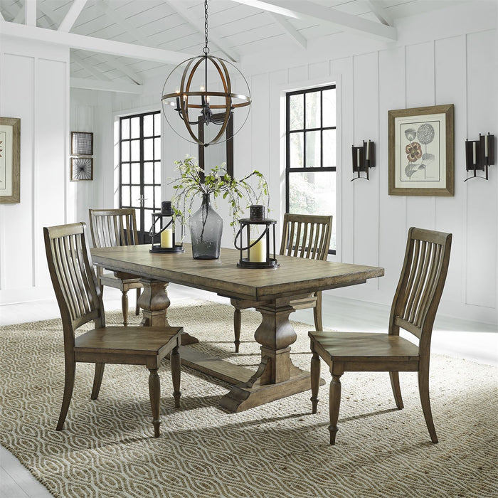 Liberty Furniture | Dining 5 Piece Trestle Table Set in Baltimore, Maryland 7747