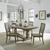 Liberty Furniture | Dining 5 Piece Trestle Table Set in Baltimore, Maryland 7746