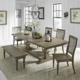 Liberty Furniture | Dining 6 Piece Trestle Table Set in Pennsylvania 7751