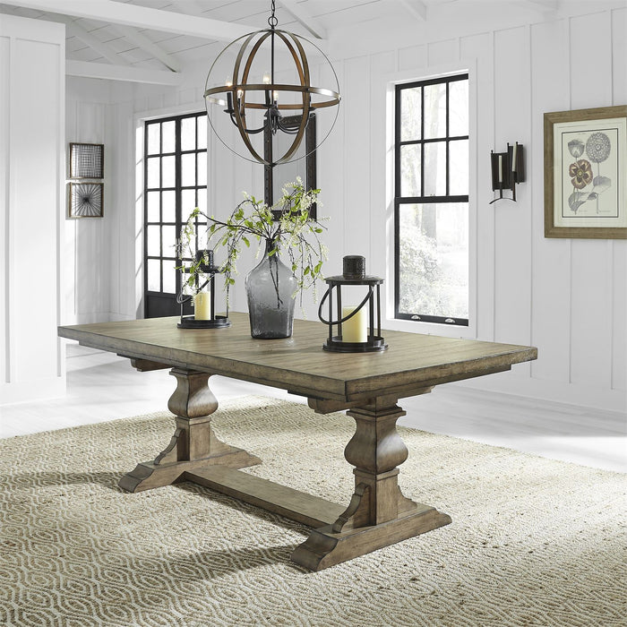Liberty Furniture | Dining 5 Piece Trestle Table Set in Baltimore, Maryland 7749
