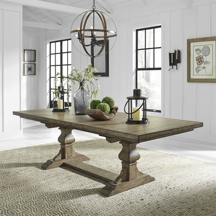 Liberty Furniture | Dining 6 Piece Trestle Table Set in Pennsylvania 7753