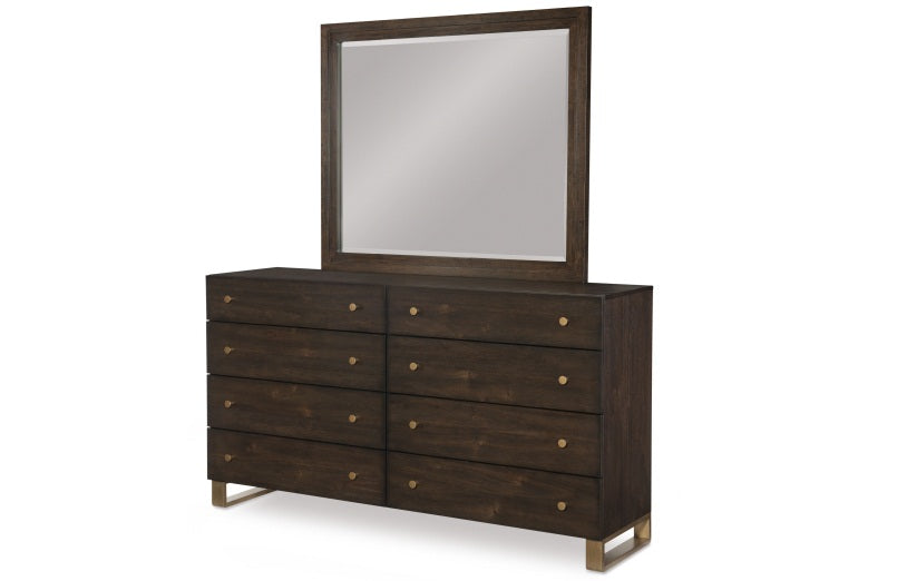 Legacy Classic Furniture | Bedroom King Panel Bed w/ Brass Finish Wood Accents 4 Piece Bedroom Set in New Jersey, NJ 975
