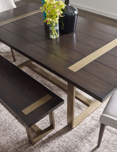 Legacy Classic Furniture | Dining Rect. Dining Table w/ Brass Finished Wood in Richmond,VA 1534