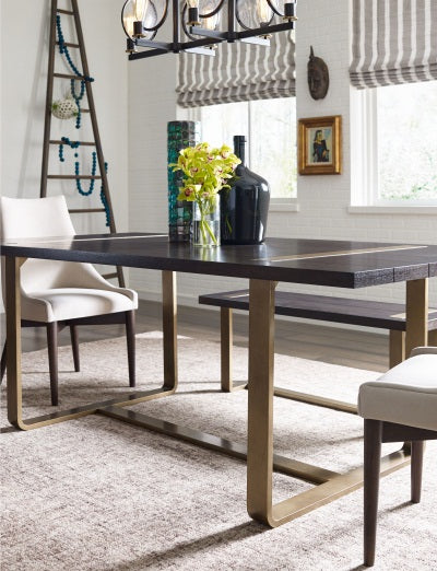 Legacy Classic Furniture | Dining Rect. Dining Table w/ Brass Finished Wood in Richmond,VA 1535