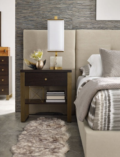 Legacy Classic Furniture | Bedroom King Panel Bed w/ Brass Finish Wood Accents 4 Piece Bedroom Set in Pennsylvania 989