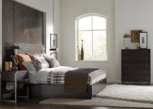 Legacy Classic Furniture | Bedroom CA King Panel Bed w/ Brass Finish Wood Accents 3 Piece Bedroom Set in Pennsylvania 1009