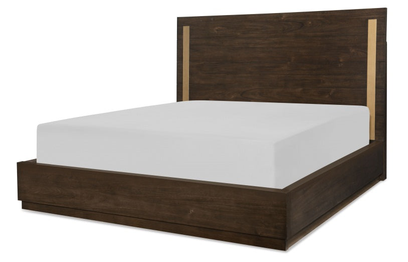 Legacy Classic Furniture | Bedroom Queen Panel Bed w/ Brass Finish Wood Accents 5/0 in Lynchburg, VA 809