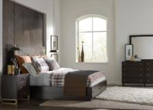 Legacy Classic Furniture |  Bedroom King Panel Bed w/ Storage and Brass Accents 4 Piece Bedroom Set in New Jersey, NJ 1121