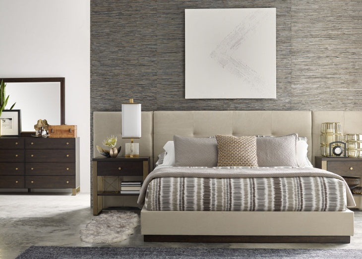 Austin by Rachael Ray Bedroom Queen Uph Wall Bed w/ Panels Bed 5 Piece Bedroom Set