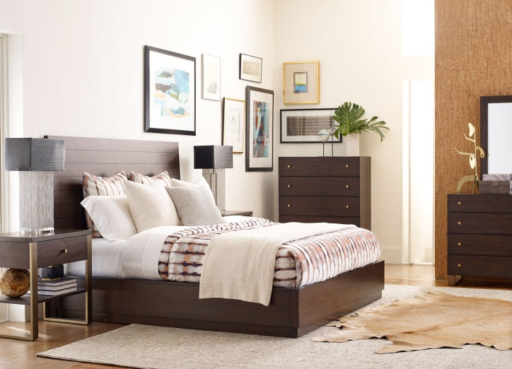 Austin By Rachael Ray Bedroom King Panel Bed 5 Piece Bedroom Set