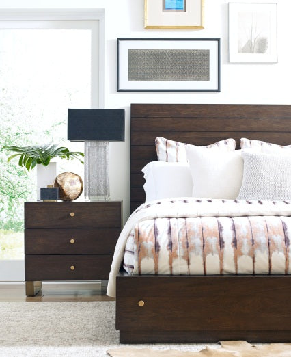 Legacy Classic Furniture | Bedroom King Panel Bed w/ Storage and Brass Accents 4 Piece Bedroom Set in Pennsylvania 1148