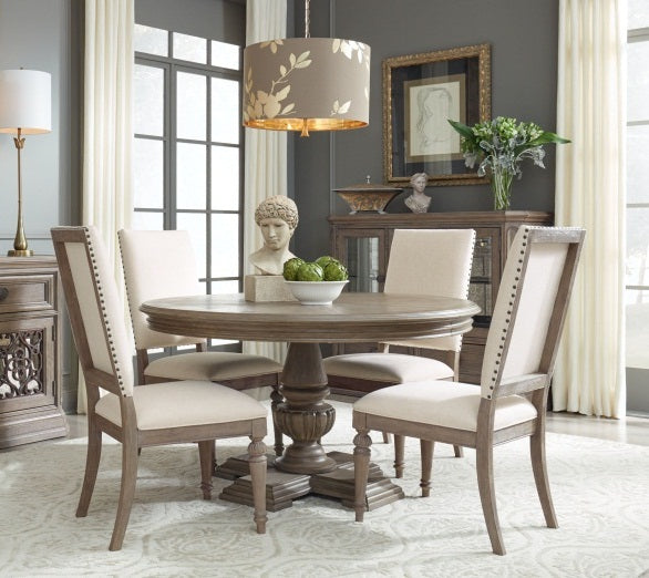Legacy Classic Furniture | Dining Round Pedestal Table 5 Piece Set in Pennsylvania 5307
