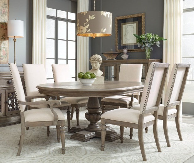 Legacy Classic Furniture | Dining Round Pedestal Table 7 Piece Set in Pennsylvania 5329