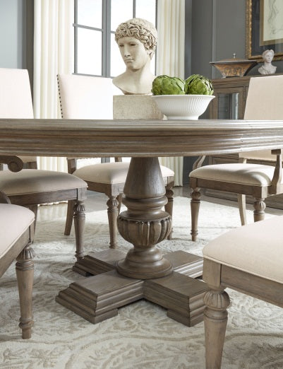 Legacy Classic Furniture | Dining Round Pedestal Table 7 Piece Set in Pennsylvania 5330