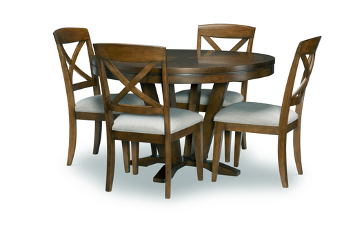 Legacy Classic Furniture | Dining Round To Oval Pedestal Table 5 Piece Set in Baltimore, MD 13865