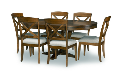 Legacy Classic Furniture | Dining Round To Oval Pedestal Table 7 Piece Set in Annapolis, MD 13868