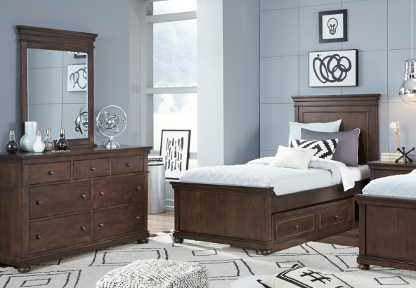 Legacy Classic Furniture | Youth Bedroom Complete Panel Bed Full 3 Piece Bedroom Set in Lynchburg, VA 13904