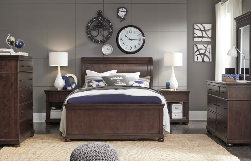 Legacy Classic Furniture | Youth Bedroom Complete Sleigh Bed Queen 5 Piece Bedroom Set in Pennsylvania 13946