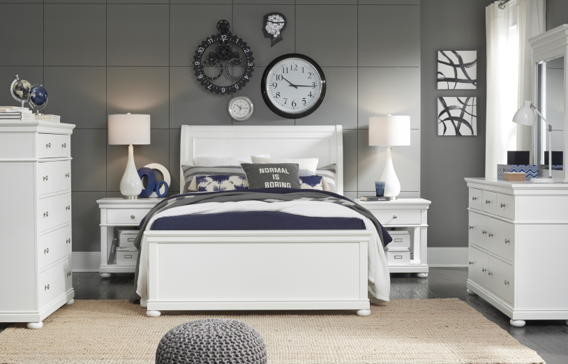 Legacy Classic Furniture | Youth Bedroom Complete Sleigh Bed Queen 4 Piece Bedroom Set in New Jersey, NJ 14007
