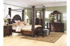 Ashley Furniture | Bedroom King Canopy Bed 4 Piece Bedroom Set in Pennsylvania 9879