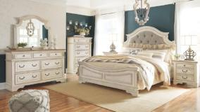 Ashley Furniture | Bedroom King Uph Panel 4 Piece Bedroom Set in Frederick, Maryland 8059