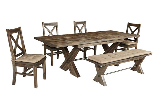 New Classic Furniture | Dining Rectangular Table 6 Piece Set in Frederick, Maryland 794