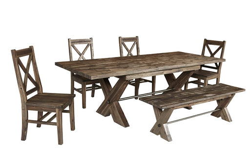 New Classic Furniture |  Dining Rectangular Table 6 Piece Set in Annapolis, Maryland 802