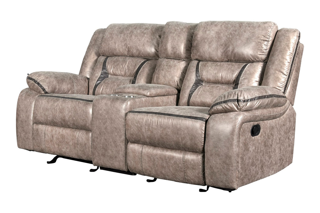 New Classic Furniture | Living Recliner Glider Console Loveseat w/ Dual Recliners in Richmond,VA 6055