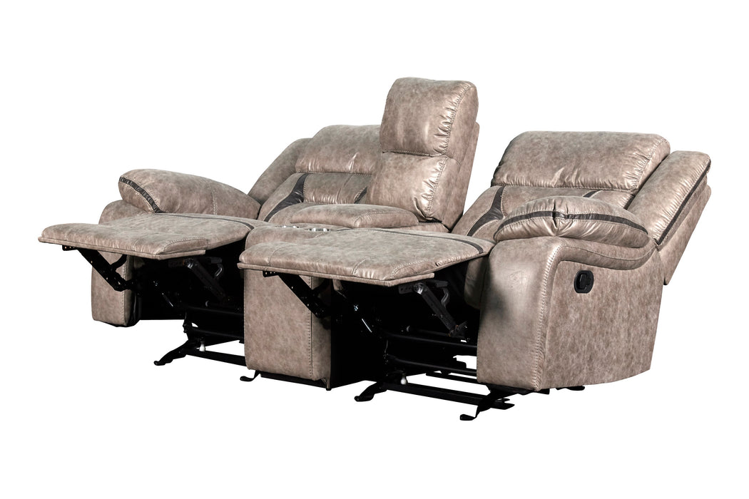 New Classic Furniture | Living Recliner Glider Console Loveseat w/ Dual Recliners in Richmond,VA 6058