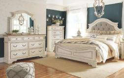 Ashley Furniture | Bedroom Queen Uph Panel 4 Piece Bedroom Set in Pennsylvania 7986