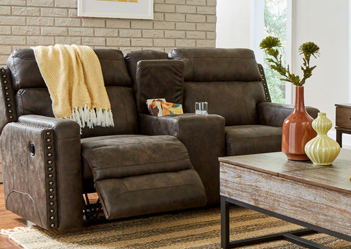 Lane Furniture | Living Recliner Power Double Motion Loveseat with Console in Baltimore, Maryland 1287
