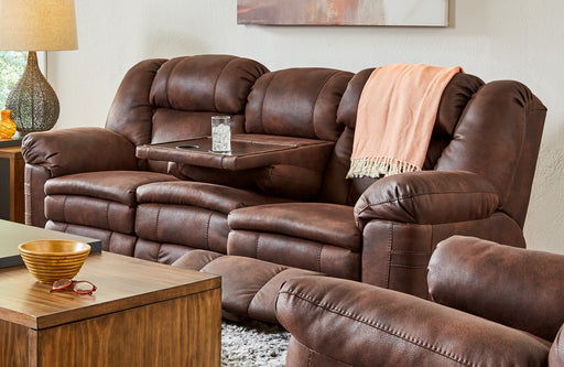 Lane Furniture | Living Recliner Power Double Motion Sofa with Table in Lynchburg, VA 1181