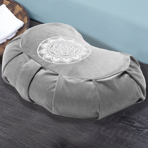 Velvet Meditation Cushion - Crescent Moon - Florensi